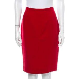 Ralph Lauren Collection Wool Cashmere Pencil Skirt